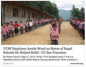 UCSF Employee Awaits Word on Status of Nepal Schools He Helped Build