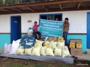 Our food supplies arrived to Nurbuling school on May 26, 2015.